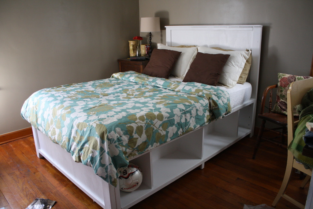 Ana White Full Size Hailey Storage Bed Diy Projects