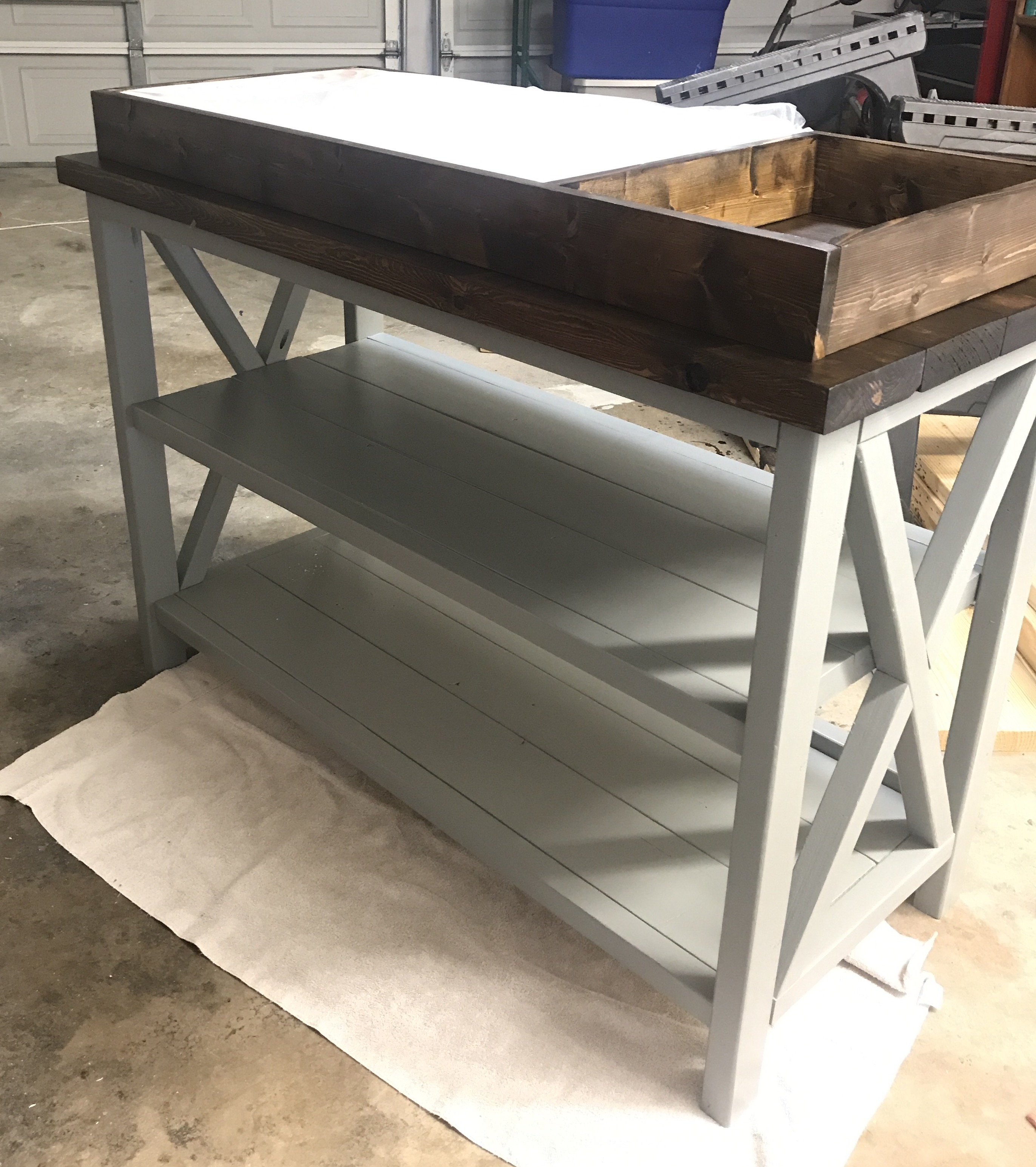 Ana White Rustic X Changing Table Diy Projects