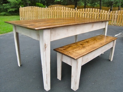 Kitchen Table With Bench ana white | modern farmhouse kitchen table with bench - diy projects