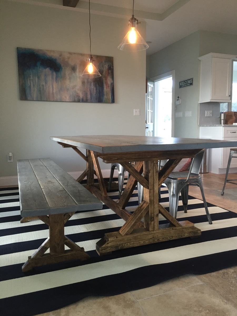 Distressed Fancy X Farmhouse Table - DIY Projects