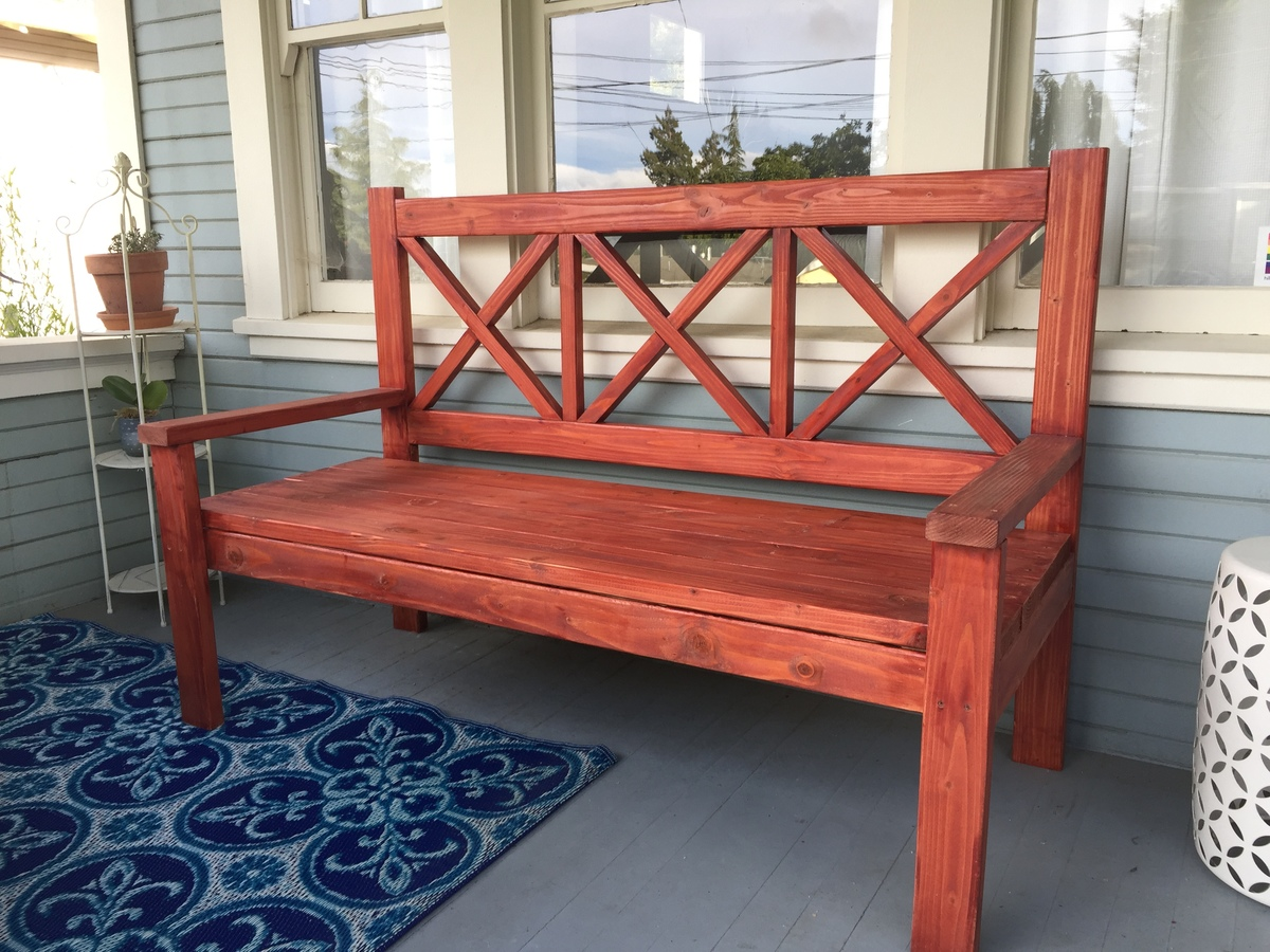 Large Porch Bench Ana White
