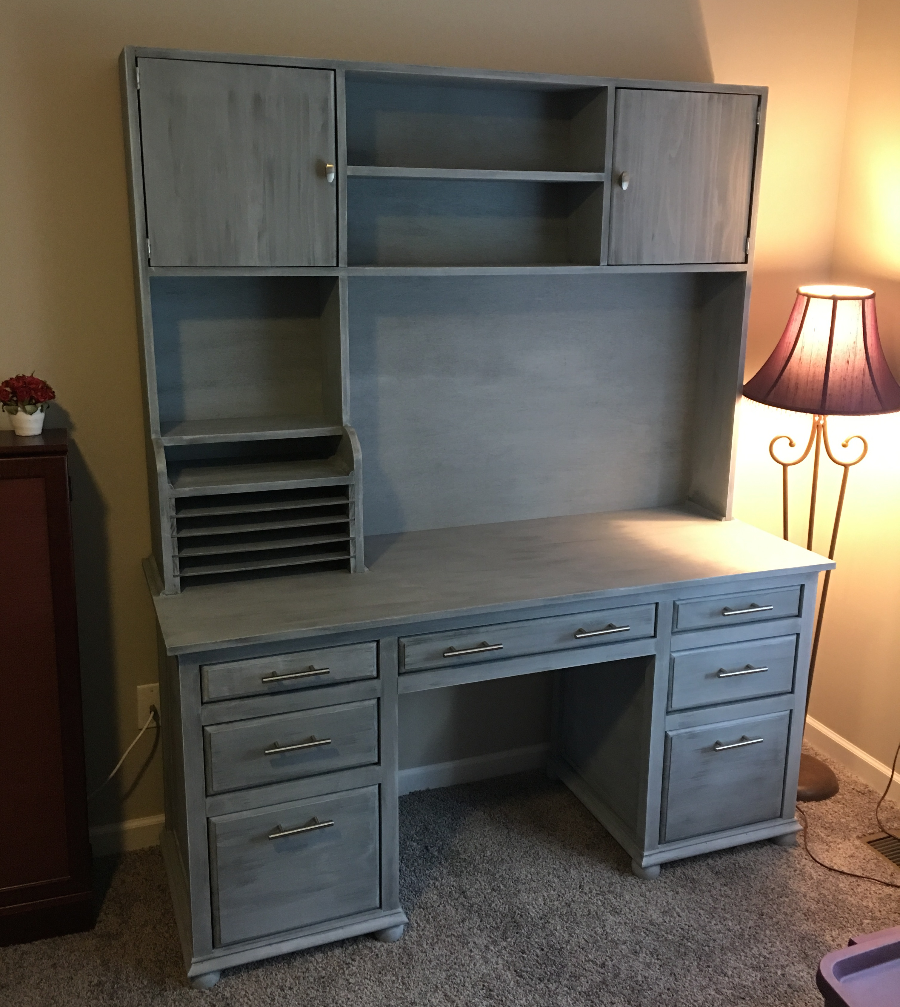 Ana White Custom Executive Office Desk Diy Projects