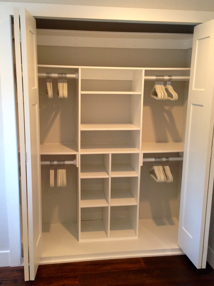 Ana white just my size closet diy projects for Closet shelving ideas