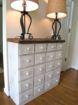 Apothecary Console Table From Pallets