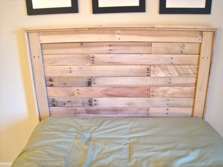 making a headboard out of pallets 2