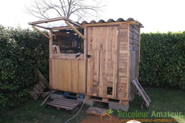 ana white garden shed made with pallets diy projects. Black Bedroom Furniture Sets. Home Design Ideas