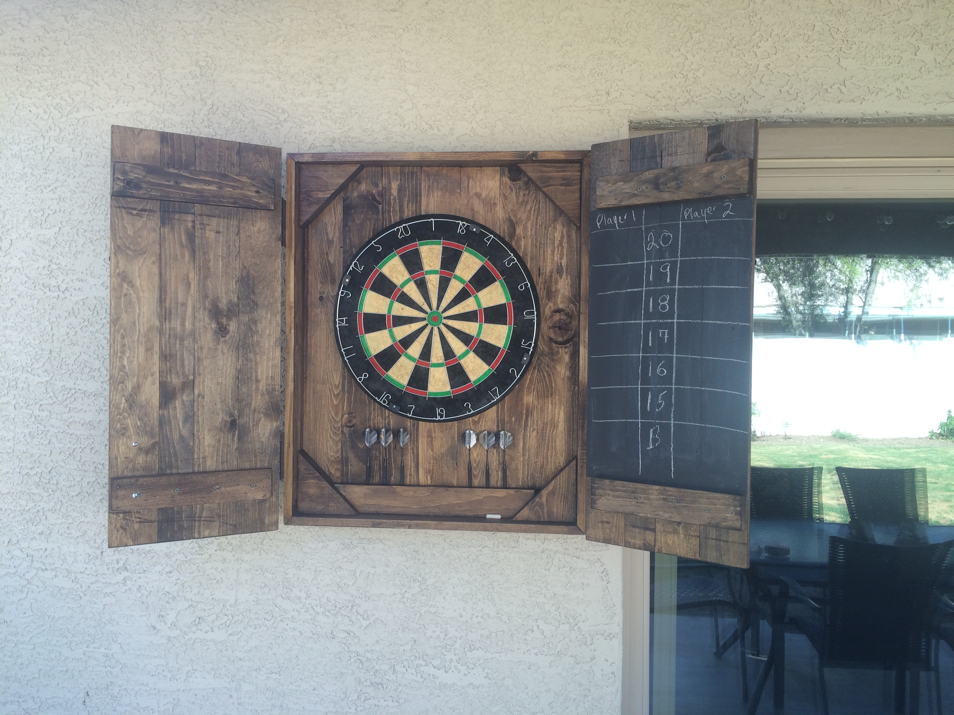 Ana White Dart Board Case Diy Projects
