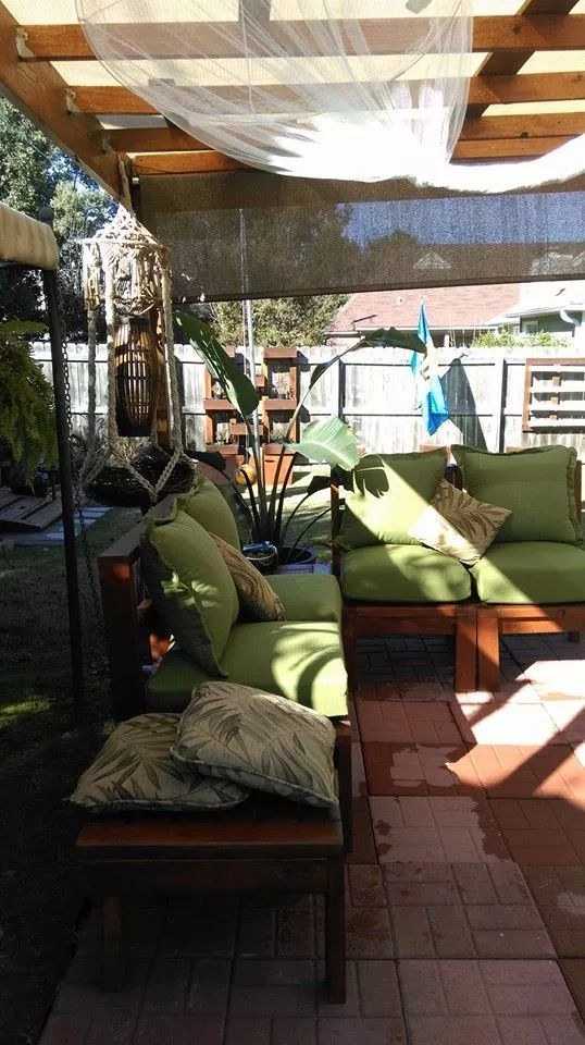 Ana White Modern Outdoor Sectional And Ottoman Tables