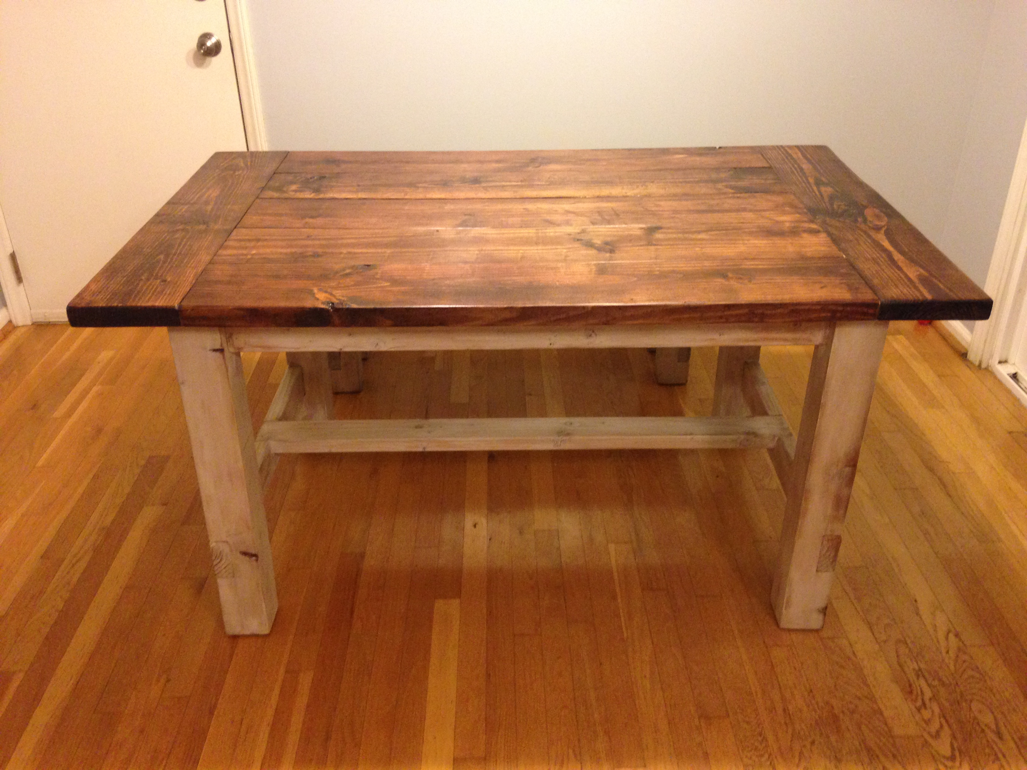Amazing Small Farmhouse Table Part - 10: Smaller Farmhouse Table And Bench