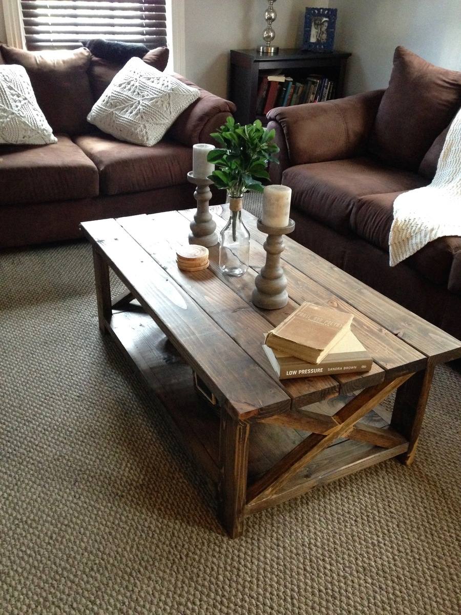 "DIY Rustic ""X"" Coffee Table - DIY Projects"