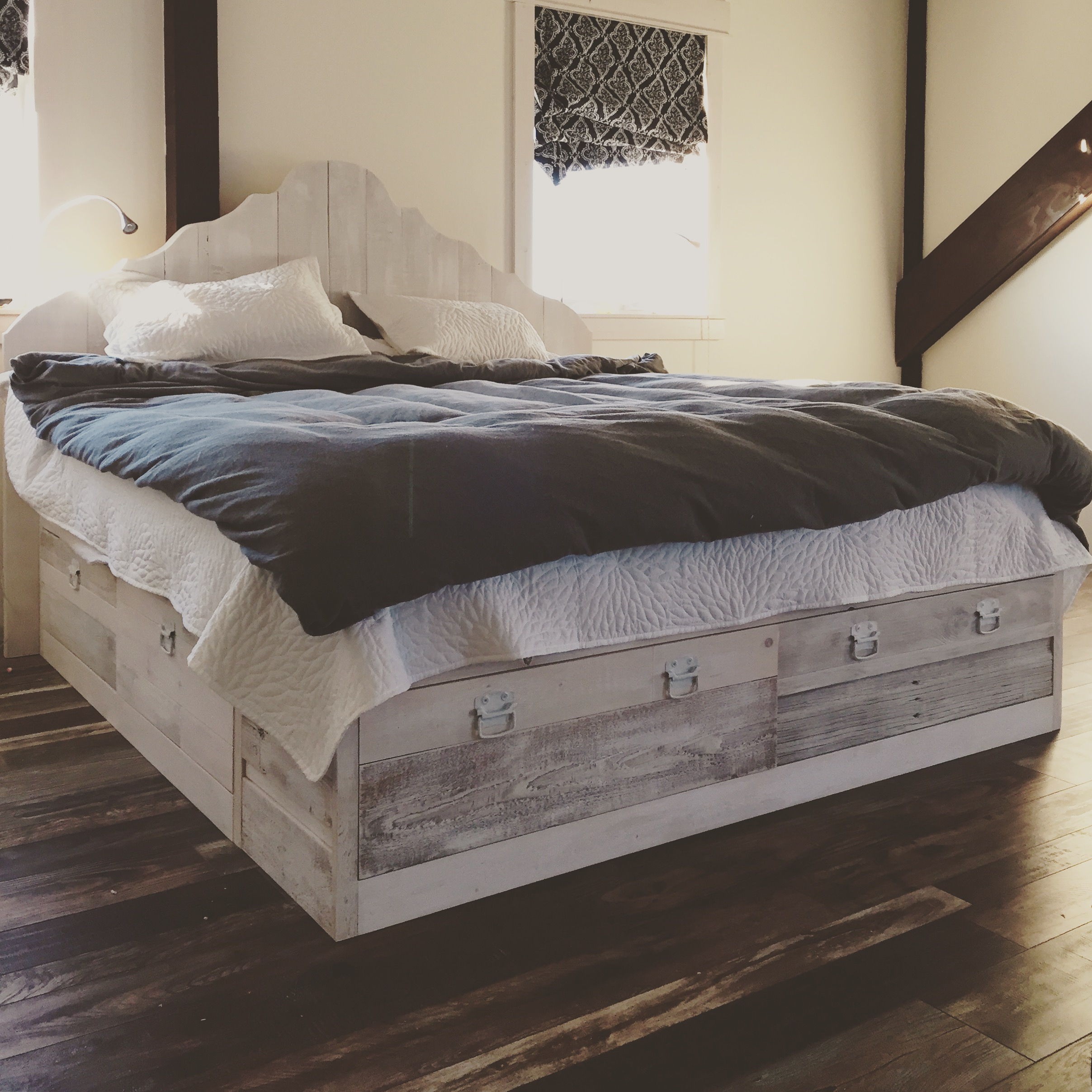 Ana White Our Scrap Wood Storage Bed Diy Projects