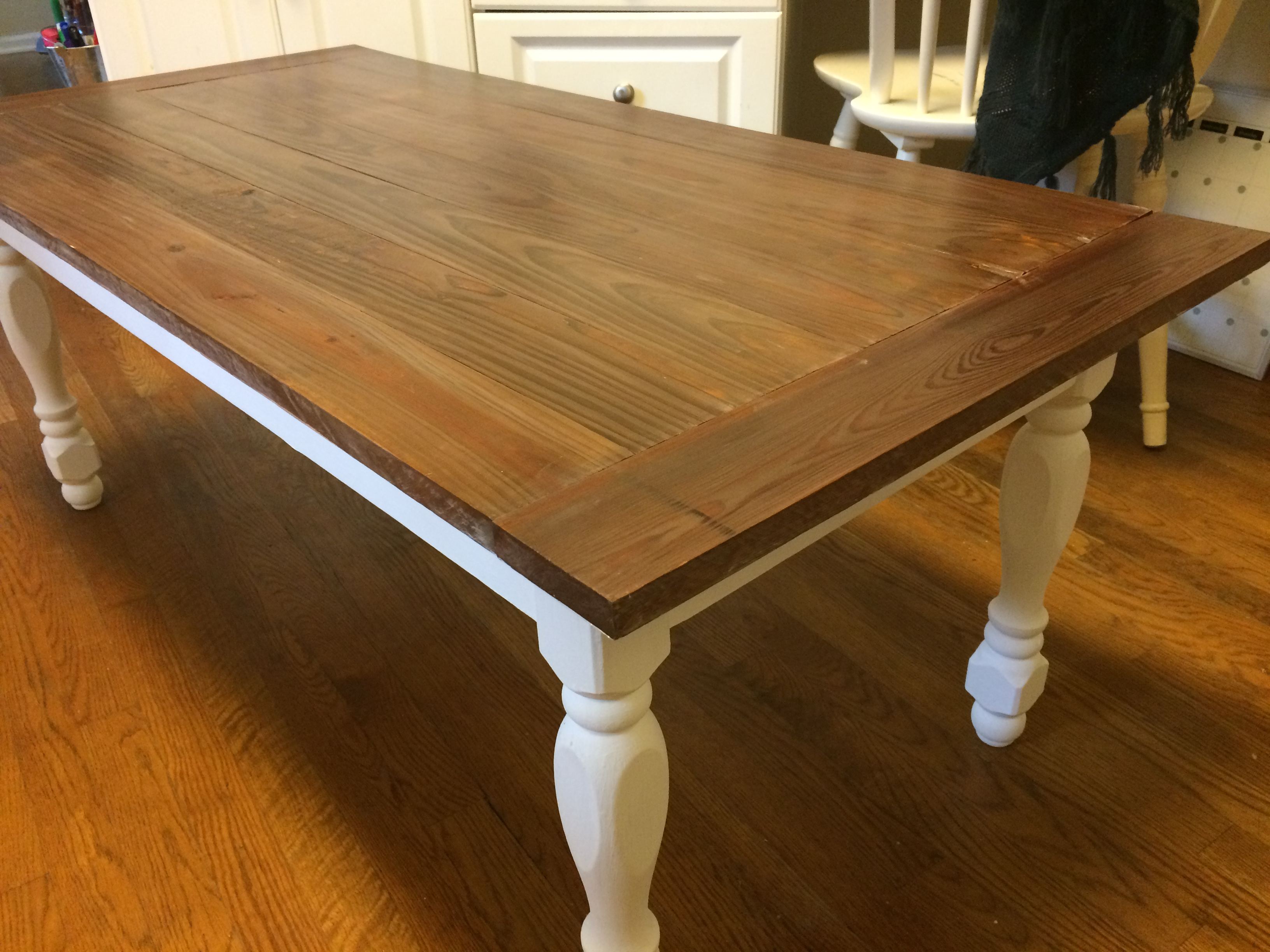 Ana White Reclaimed Turned Leg Coffee Table Diy Projects
