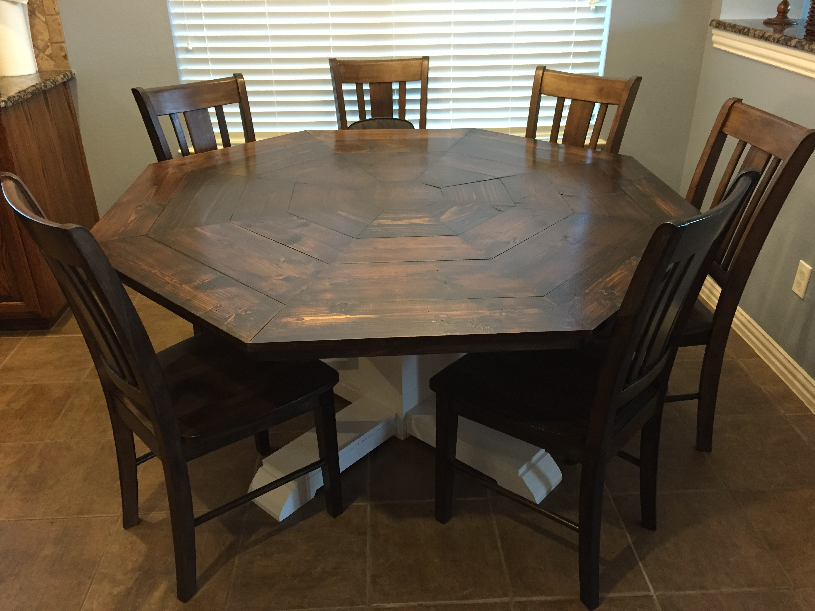 ana white | octagon dining room table - diy projects