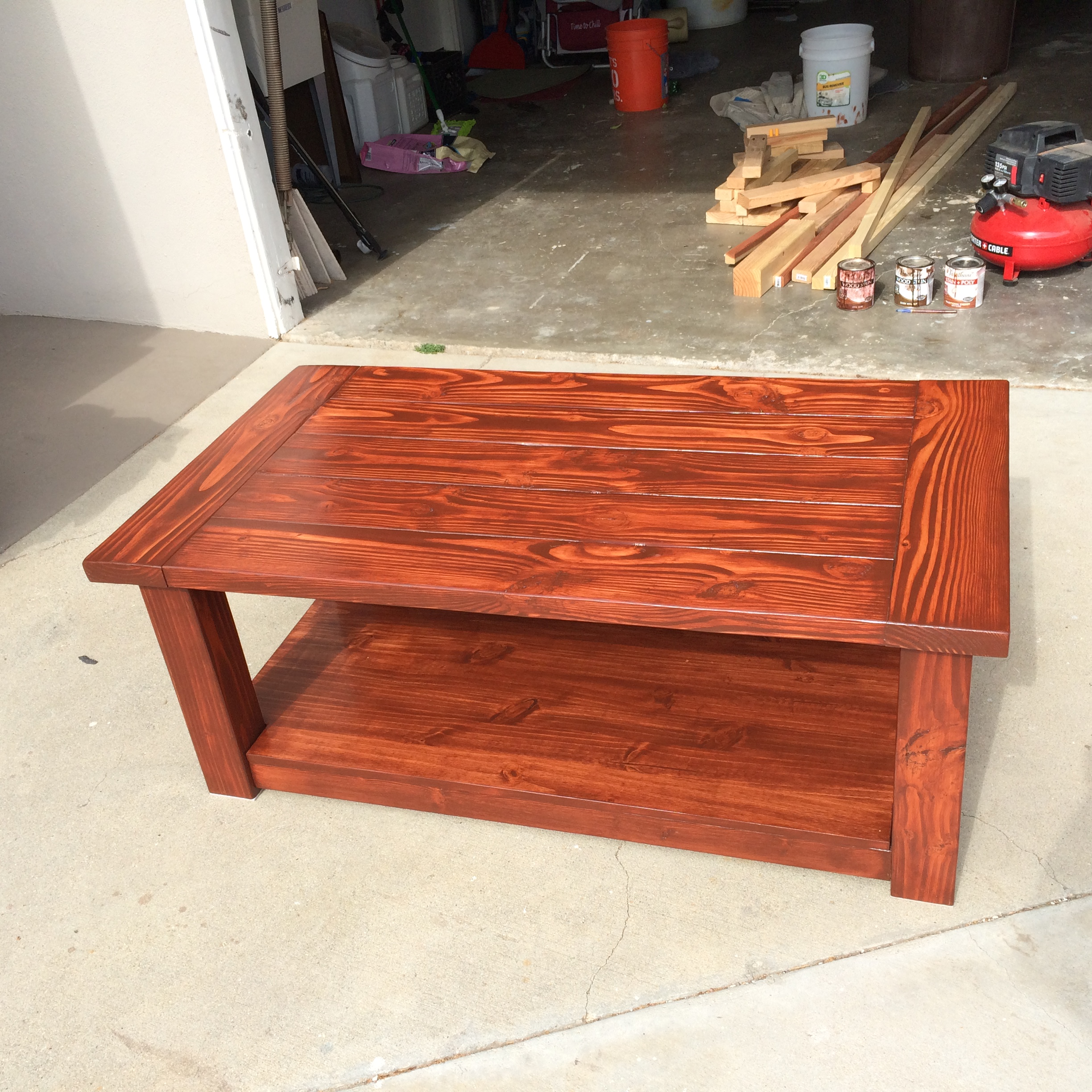 Ana White Modified Pottery Barn Knock Off DIY Projects - Pottery barn red coffee table