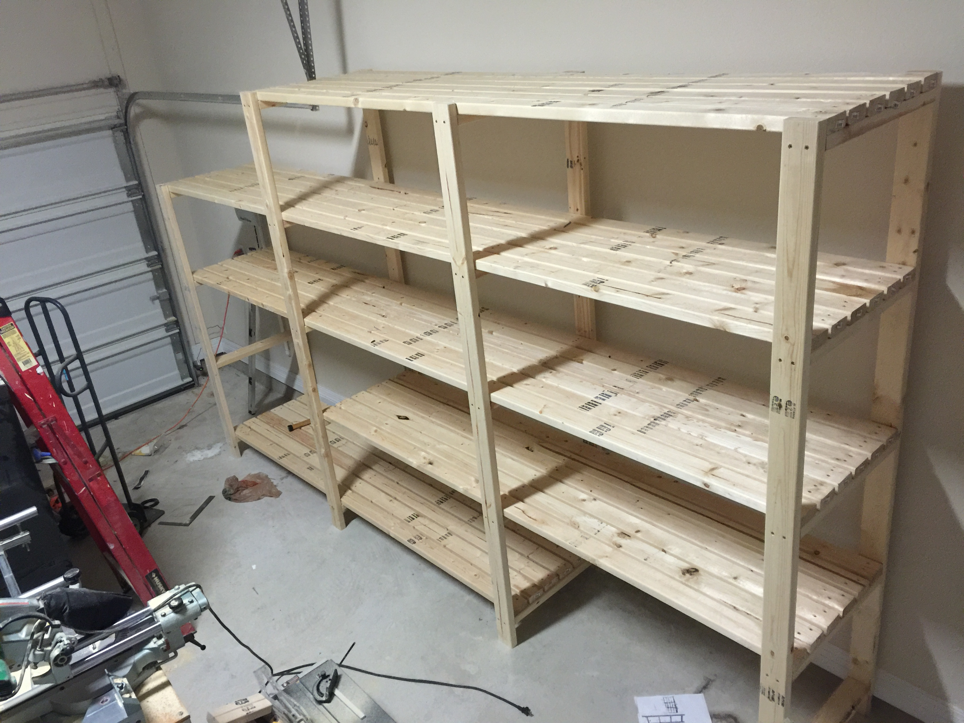 Ana White Garage Shelving Diy Projects