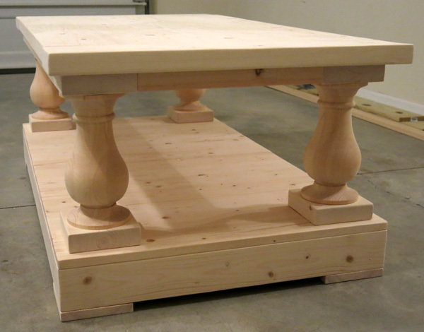 Ana white restoration hardware style coffee table diy projects