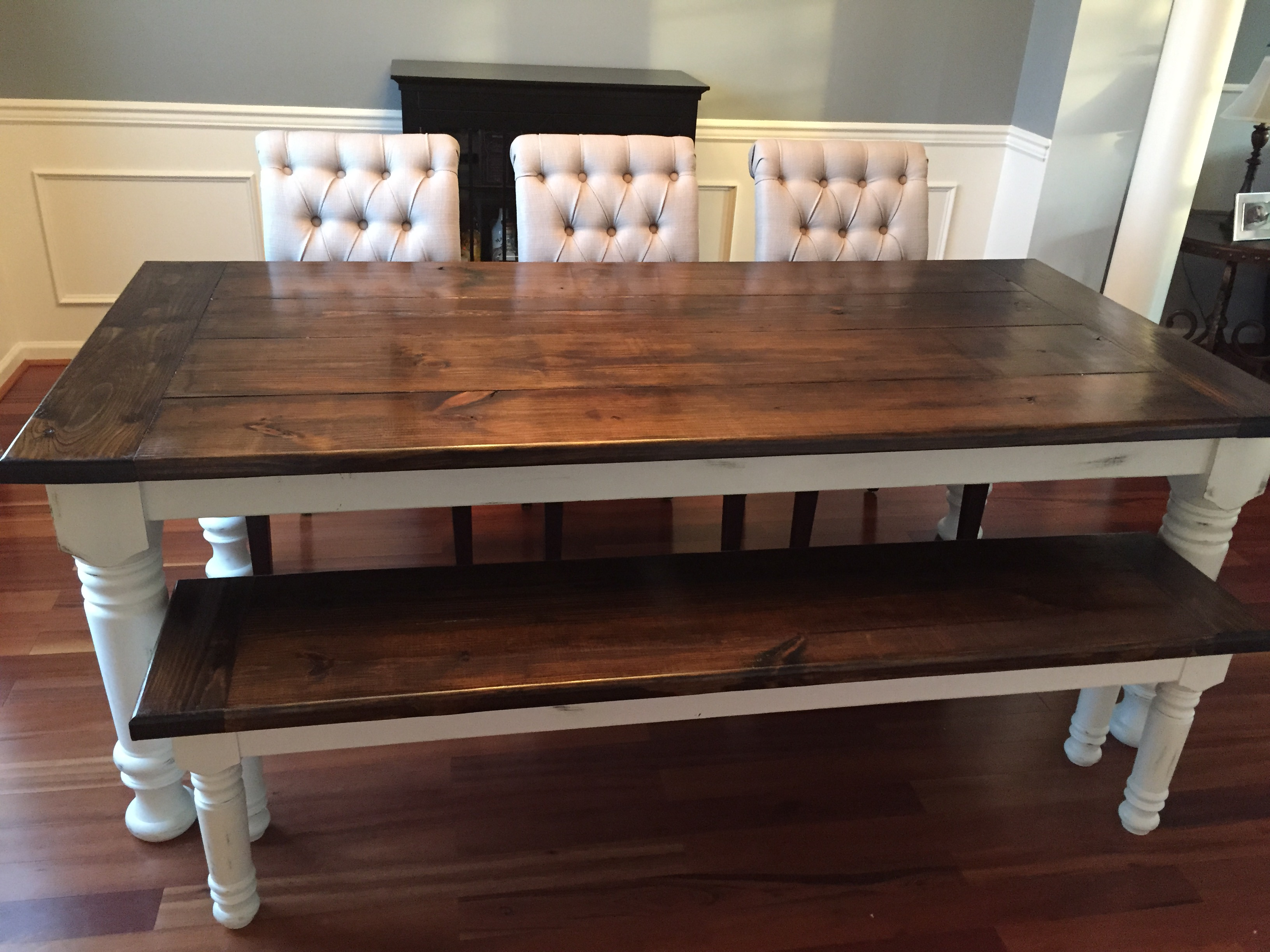 Farmhouse Table Bench Extensions
