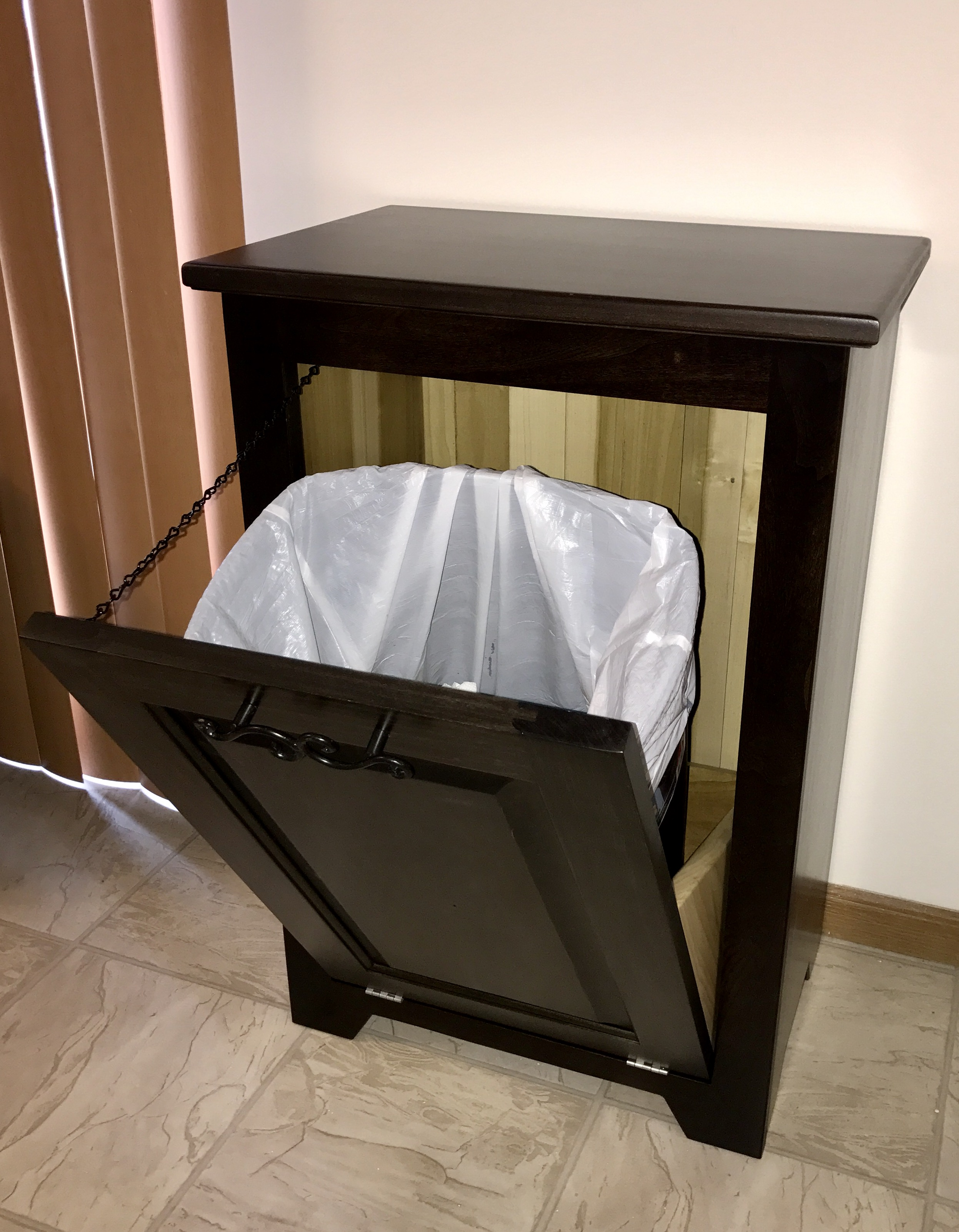 Ana White Tilt Out Trash Can Cabinet Diy Projects