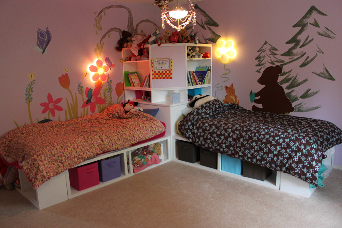 Ana White Twin Storage Beds with corner unit DIY Projects