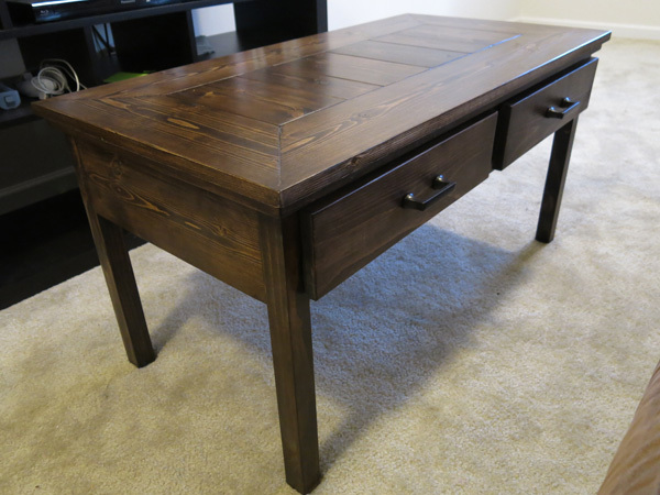 ana white coffee table with two drawers diy projects