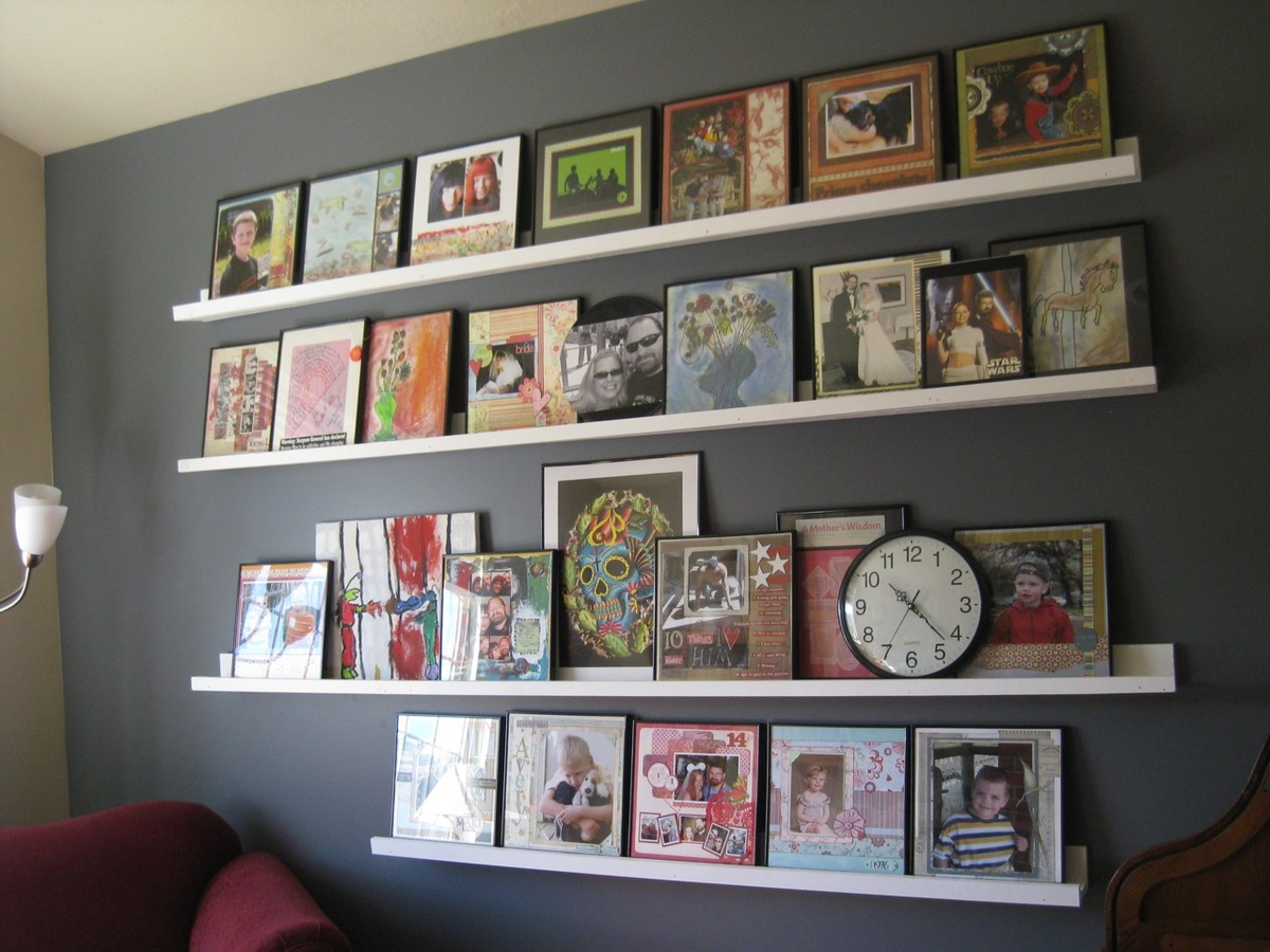 Gallery Wall Shelves ana white | gallery shelves: wall of awesome - diy projects