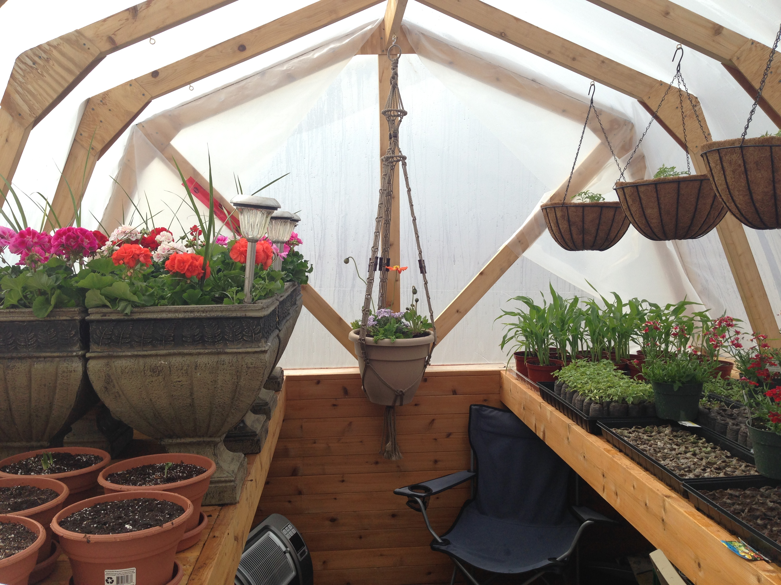 Ana White | Our version of this awesome little greenhouse ...