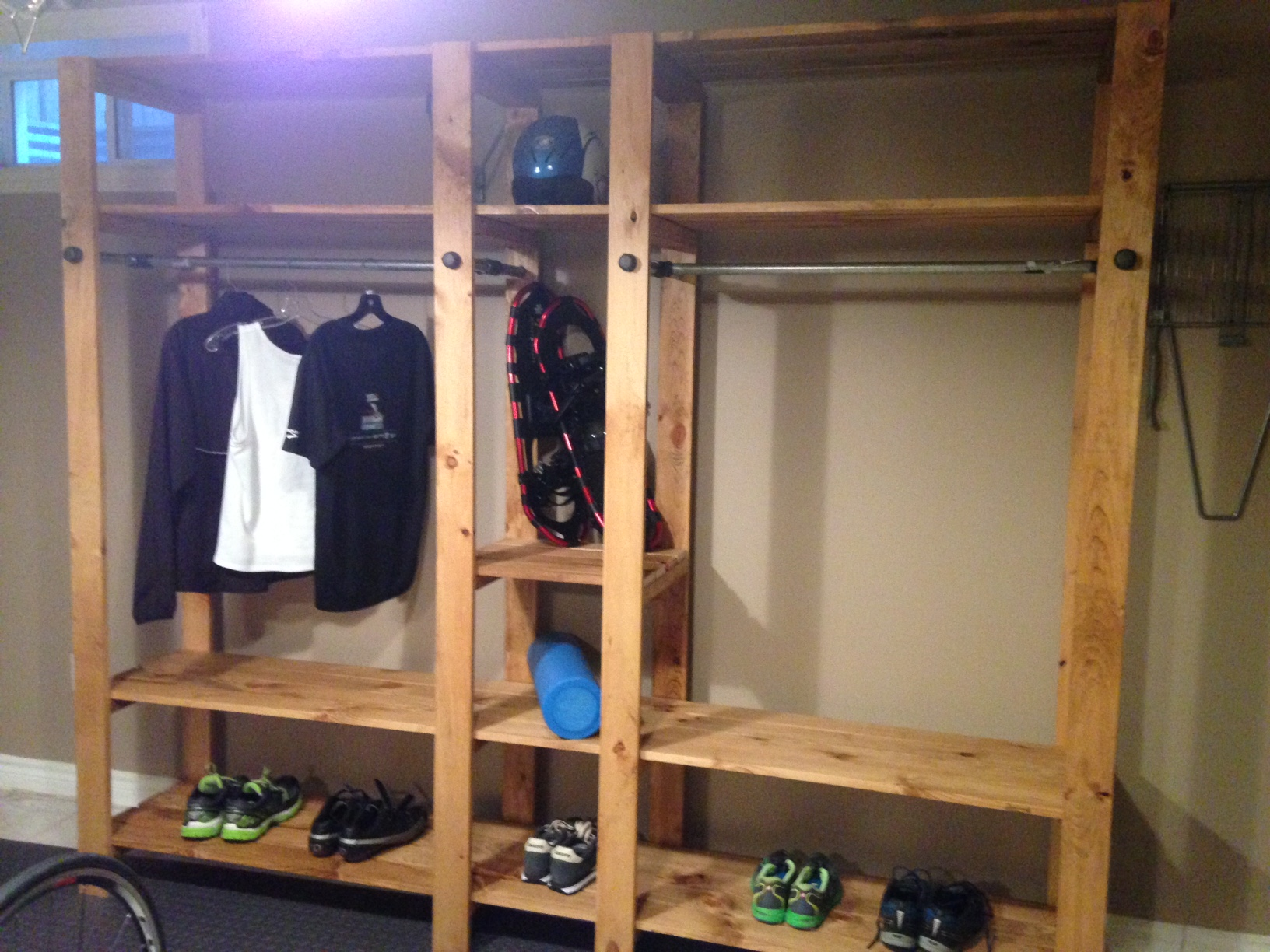 Home Wood Closet ~ Ana white industrial closet system diy projects