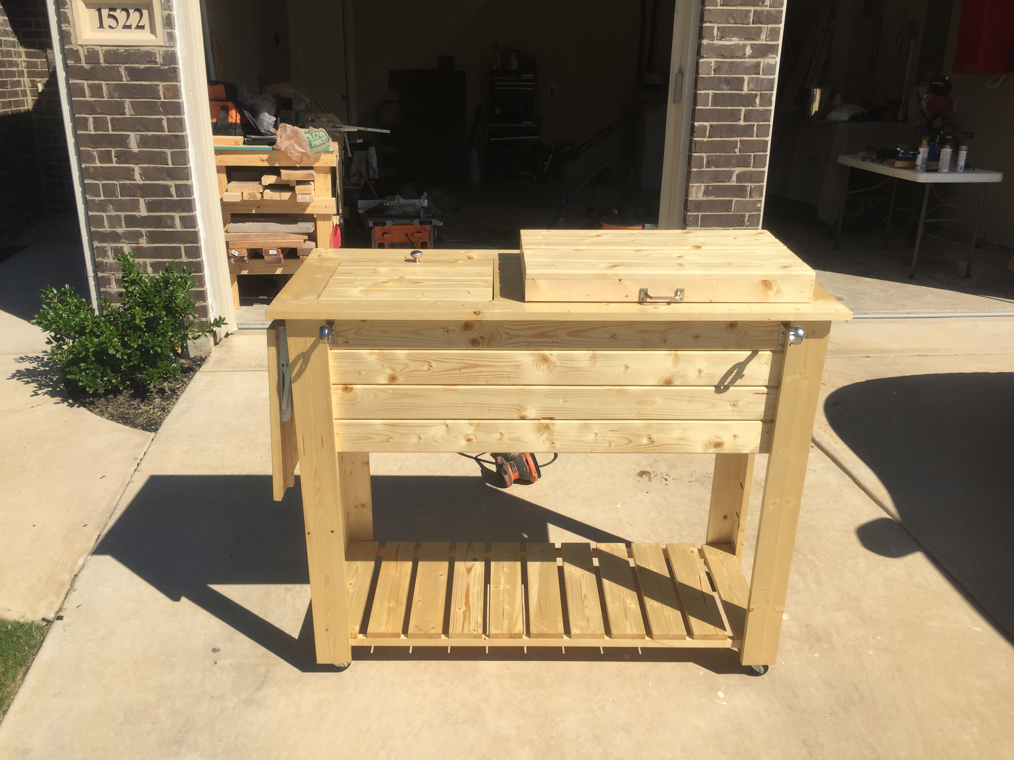 today discovery barnwood product shipping cart free stand patio toys outdoor backyard sports debc overstock cooler
