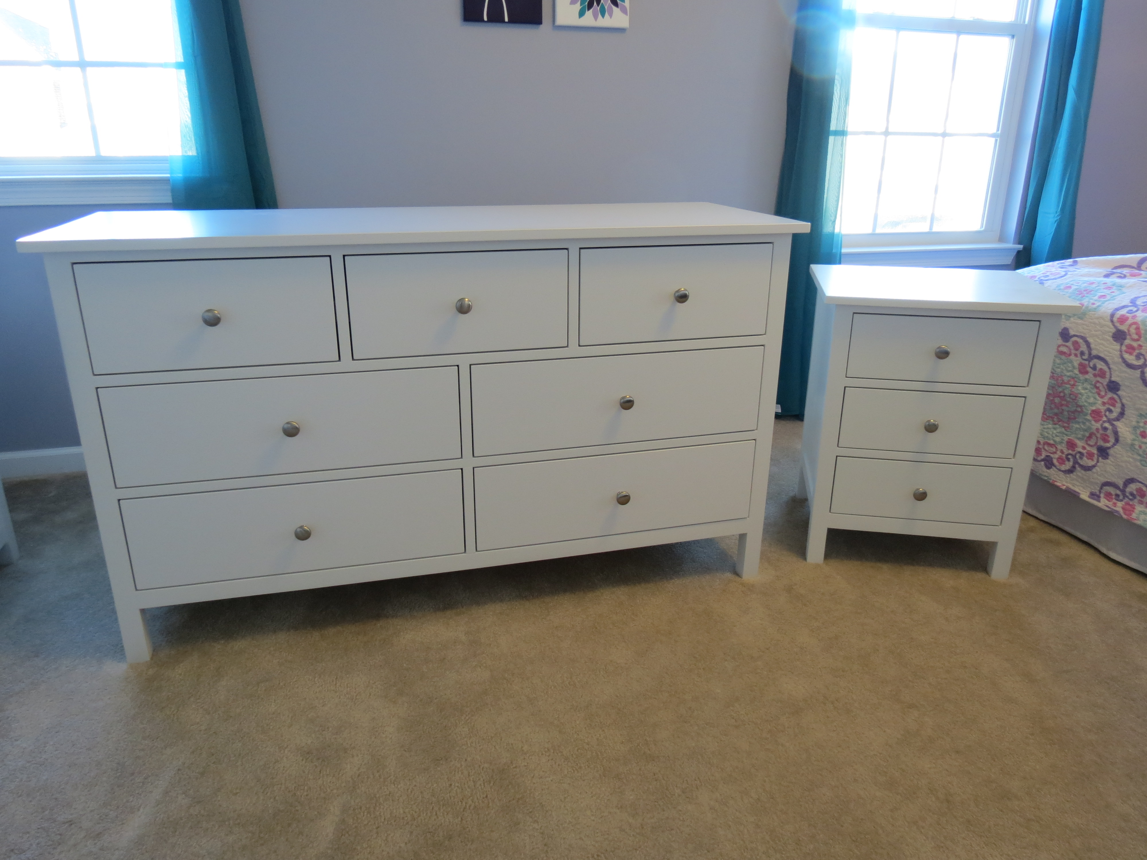 White Nightstand And Dresser: Lilia's Dresser And Nightstand - DIY Projects