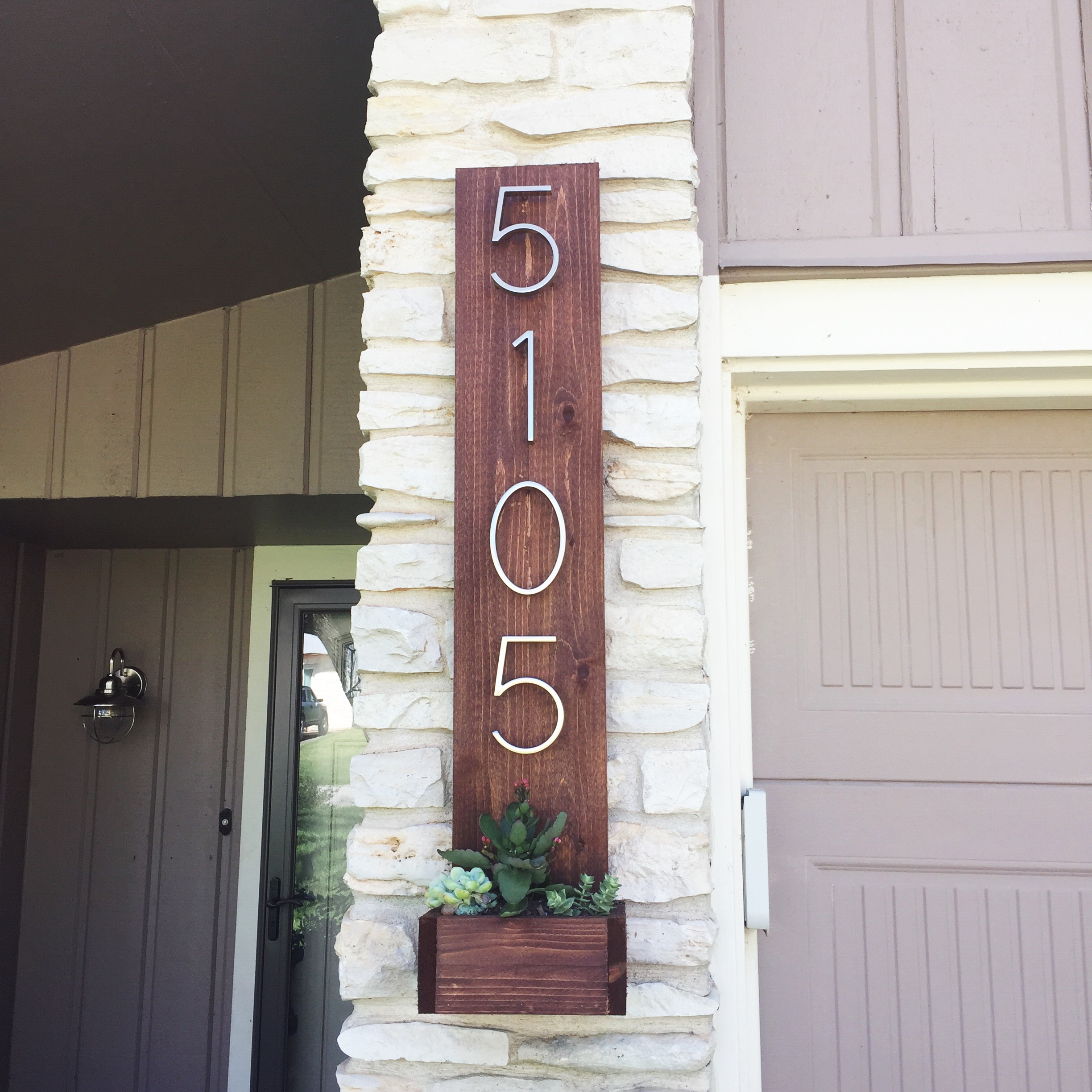 Ana White Cedar Street Number Planter Diy Projects
