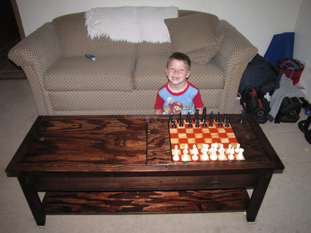Momu0027s Lego Table (with Chess Board)