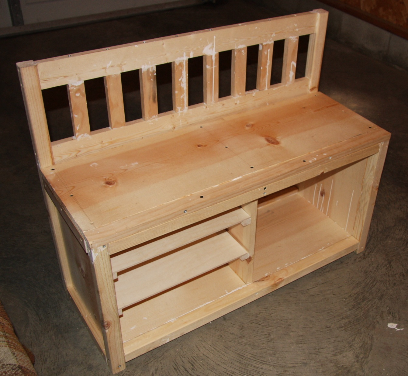 A Cottage Bench With Shoe Rack