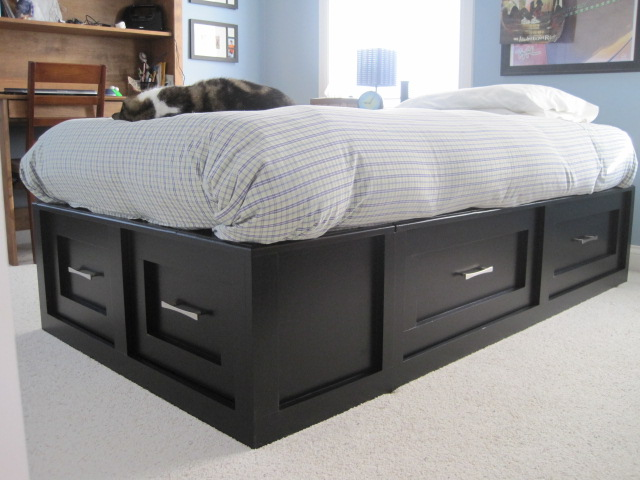 Ana White Twin Size Storage Bed Diy Projects