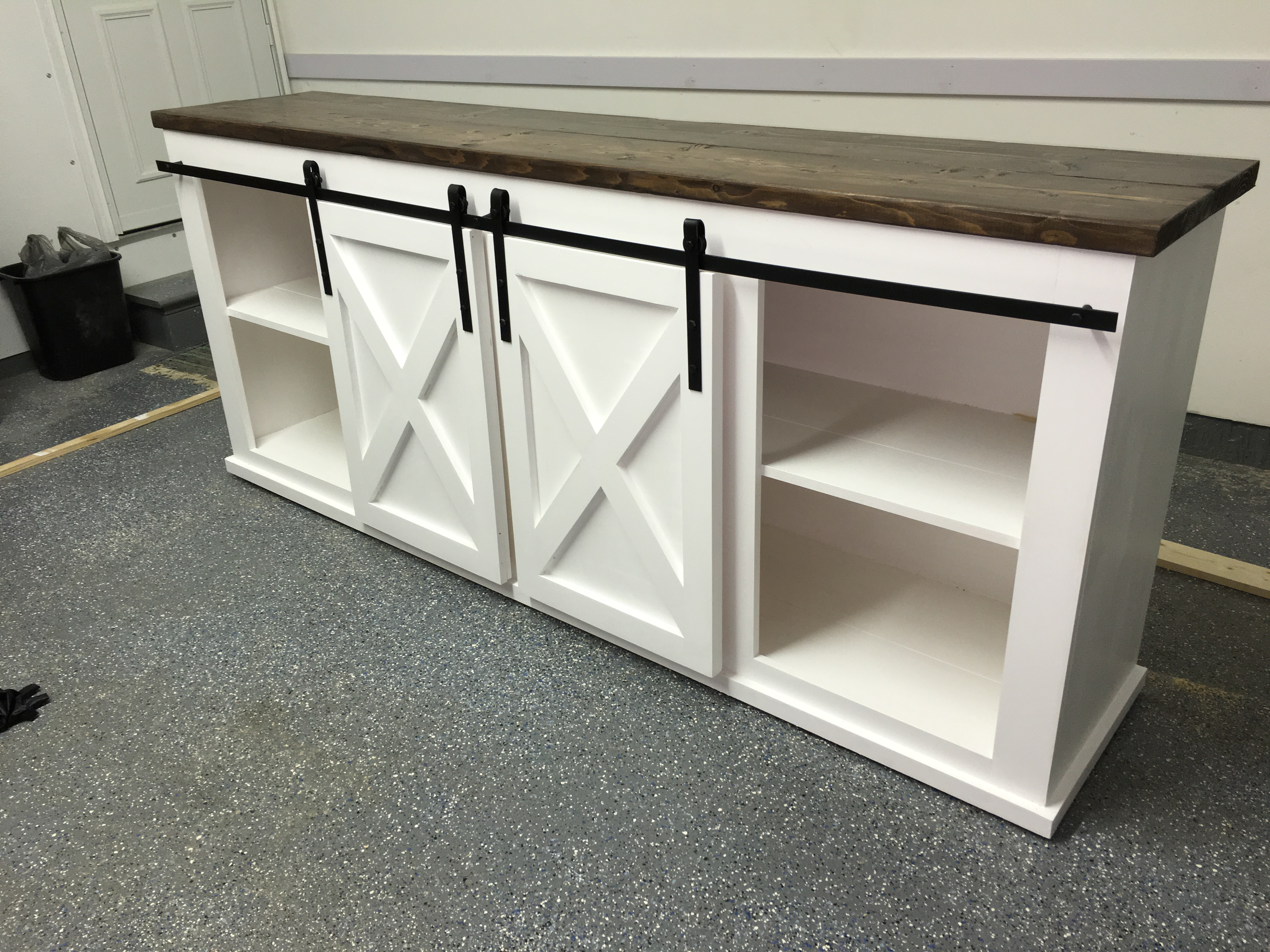 Grandy Sliding Door Console Ana White