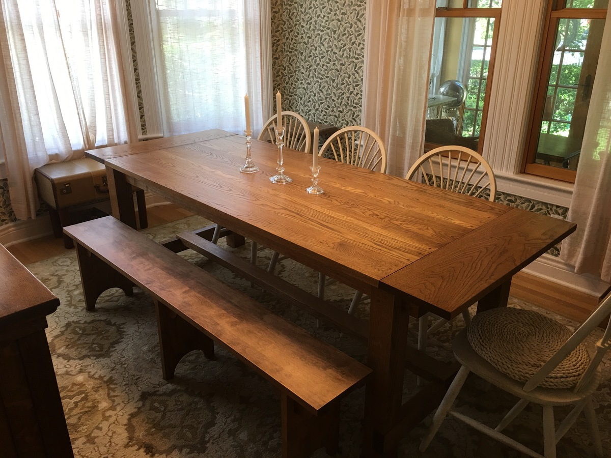 Ana white oak farmhouse table diy projects