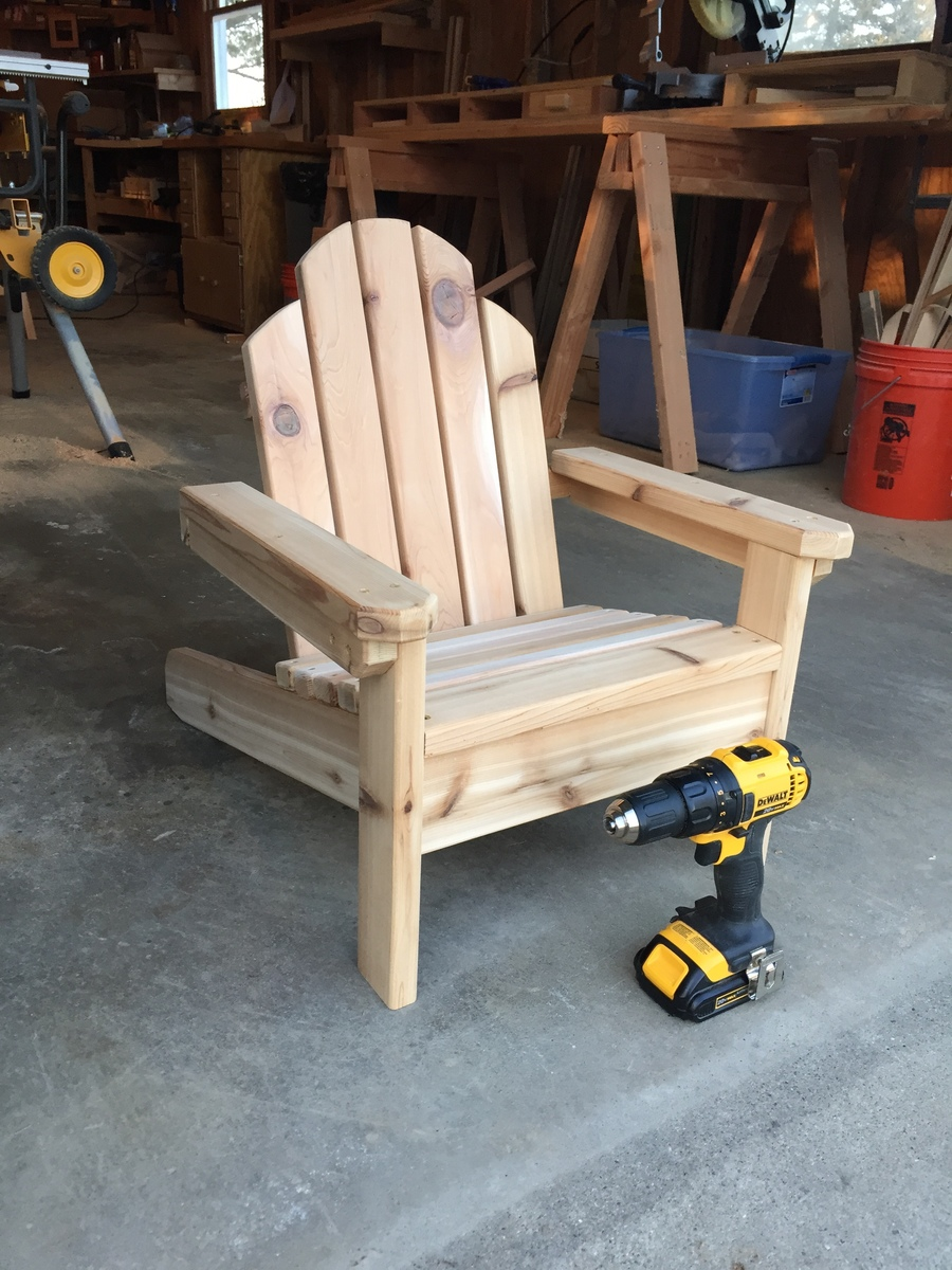 Ana White Mini Adirondack Chair Diy Projects