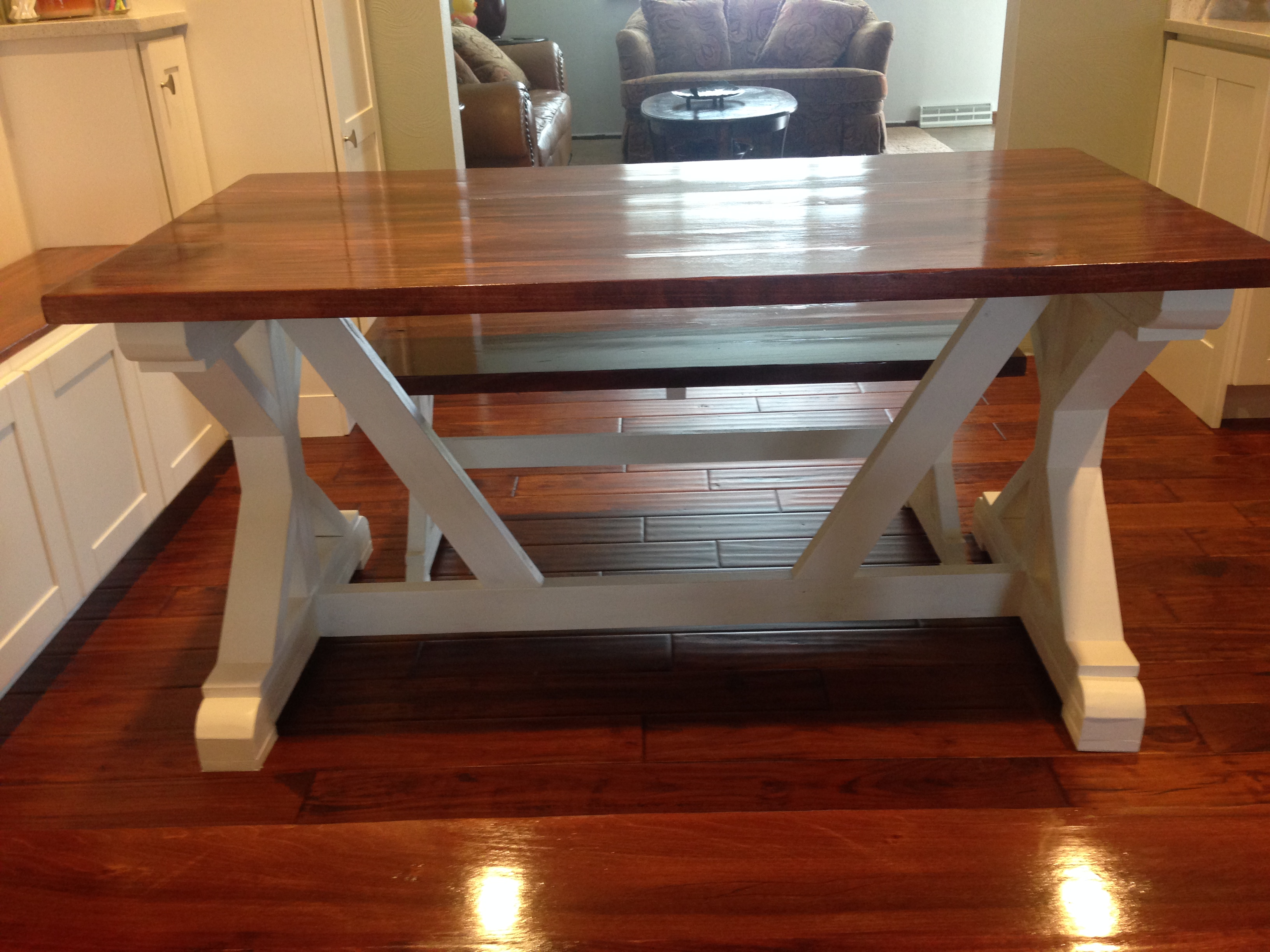 Ana white new kitchen new table diy projects - Ana white kitchen table ...