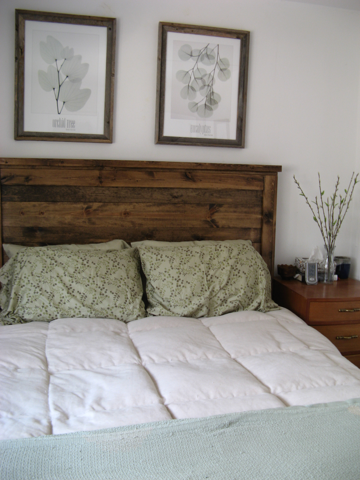 First Project Reclaimed Wood Look Queen Headboard
