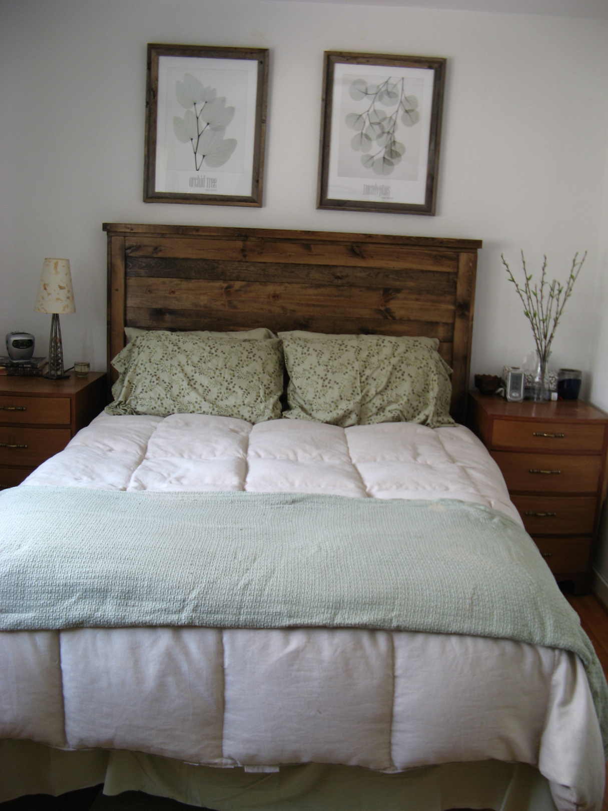 First Project  Reclaimed Wood Look Queen Headboard! DIY Projects. Full resolution‎  picture, nominally Width 1215 Height 1620 pixels, picture with #372B1C.