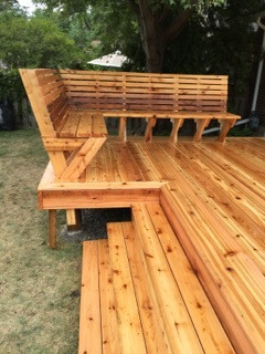 Ana White Custom Cedar Bench For Deck Diy Projects