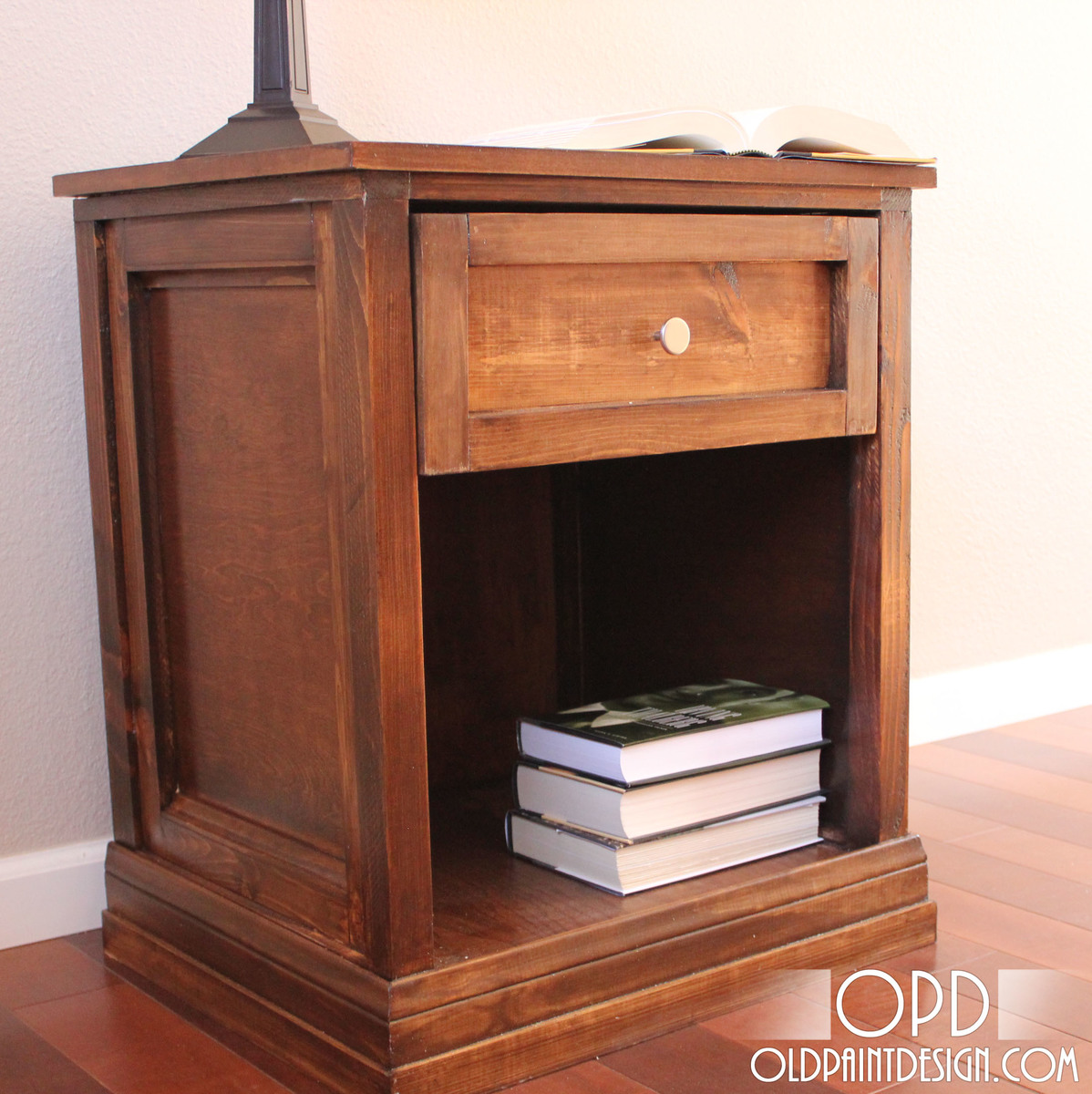 ana white   brina bedside table - diy projects Diy Bedside Table