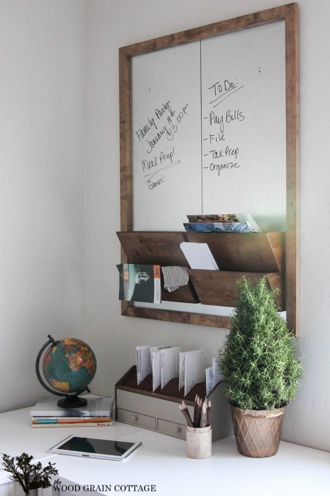 Metal And Wood Wall Organizer Feature From Grain Cottage