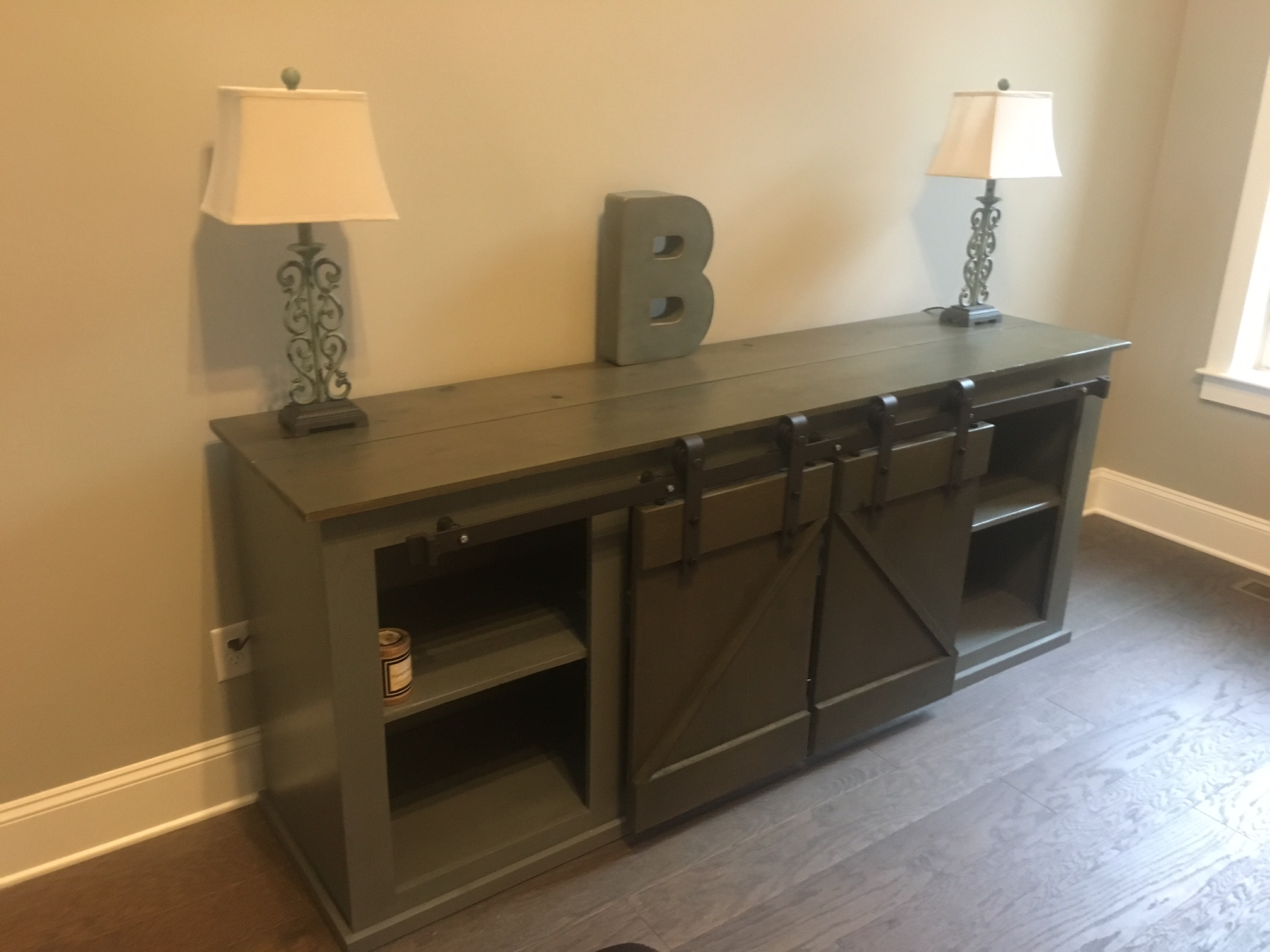 Sliding Barn Door Media Cabinet