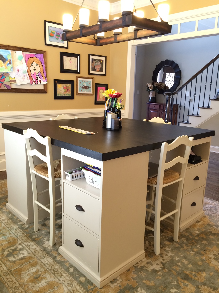Ana White Four Station Desk PB Inspired DIY Projects