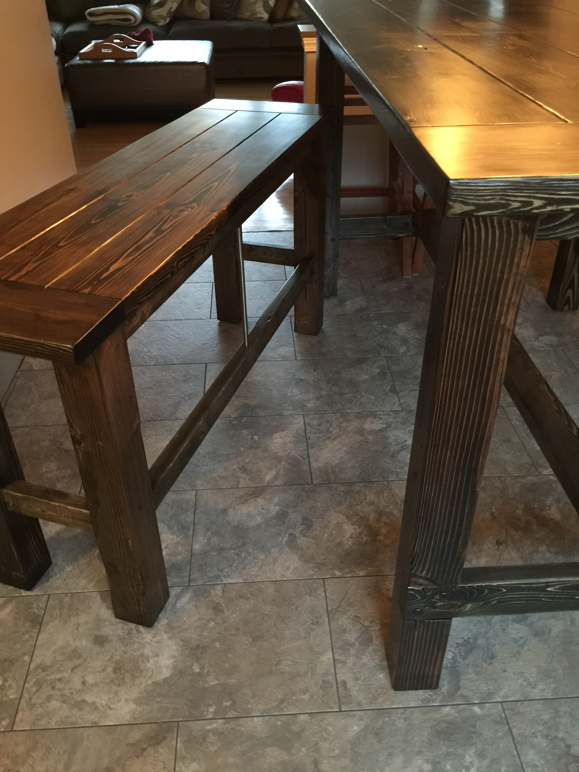 Magnificent Bar Height Farmhouse Table Benches Ana White Alphanode Cool Chair Designs And Ideas Alphanodeonline