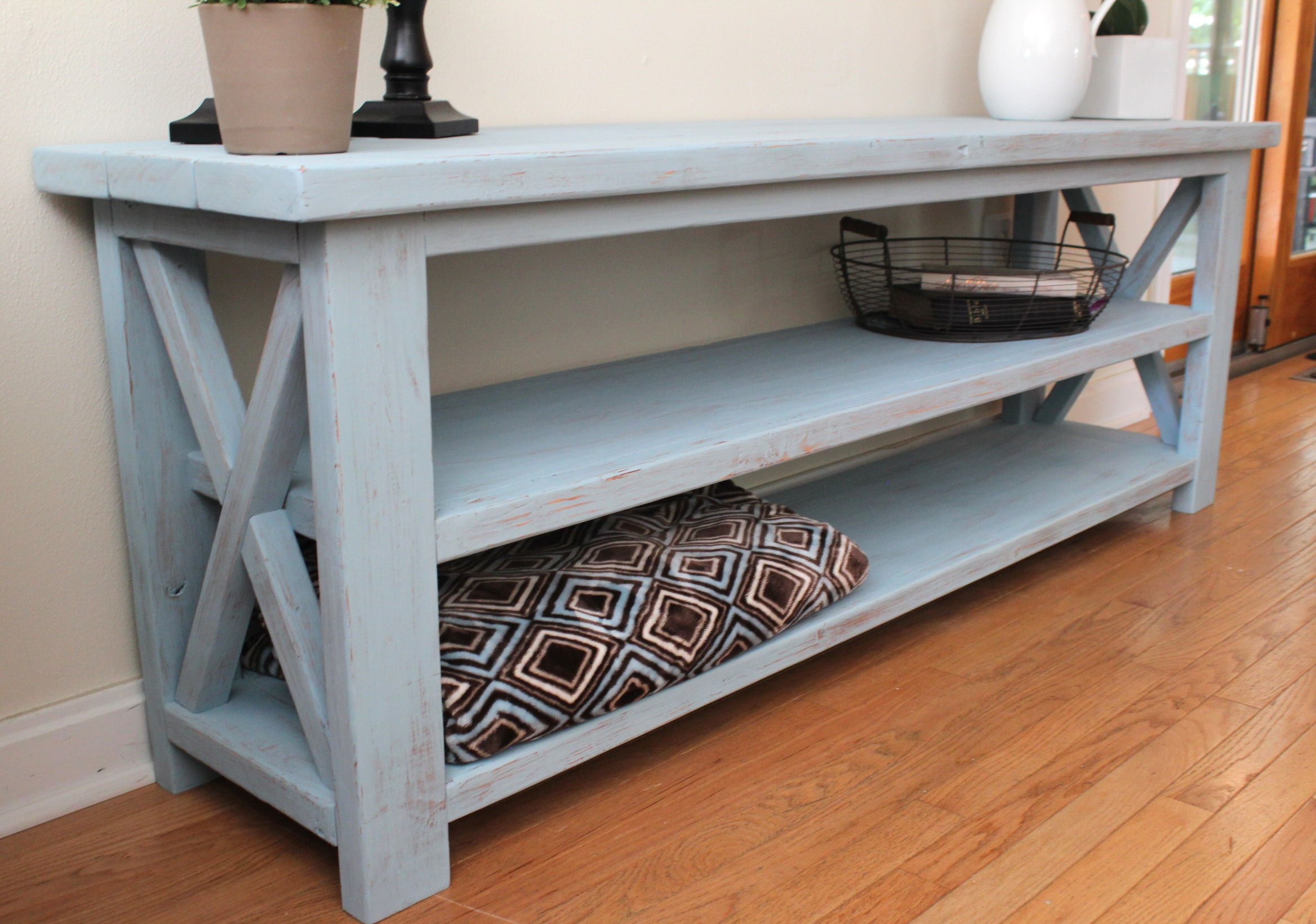 Ana White Robins Egg Blue Console Table Diy Projects