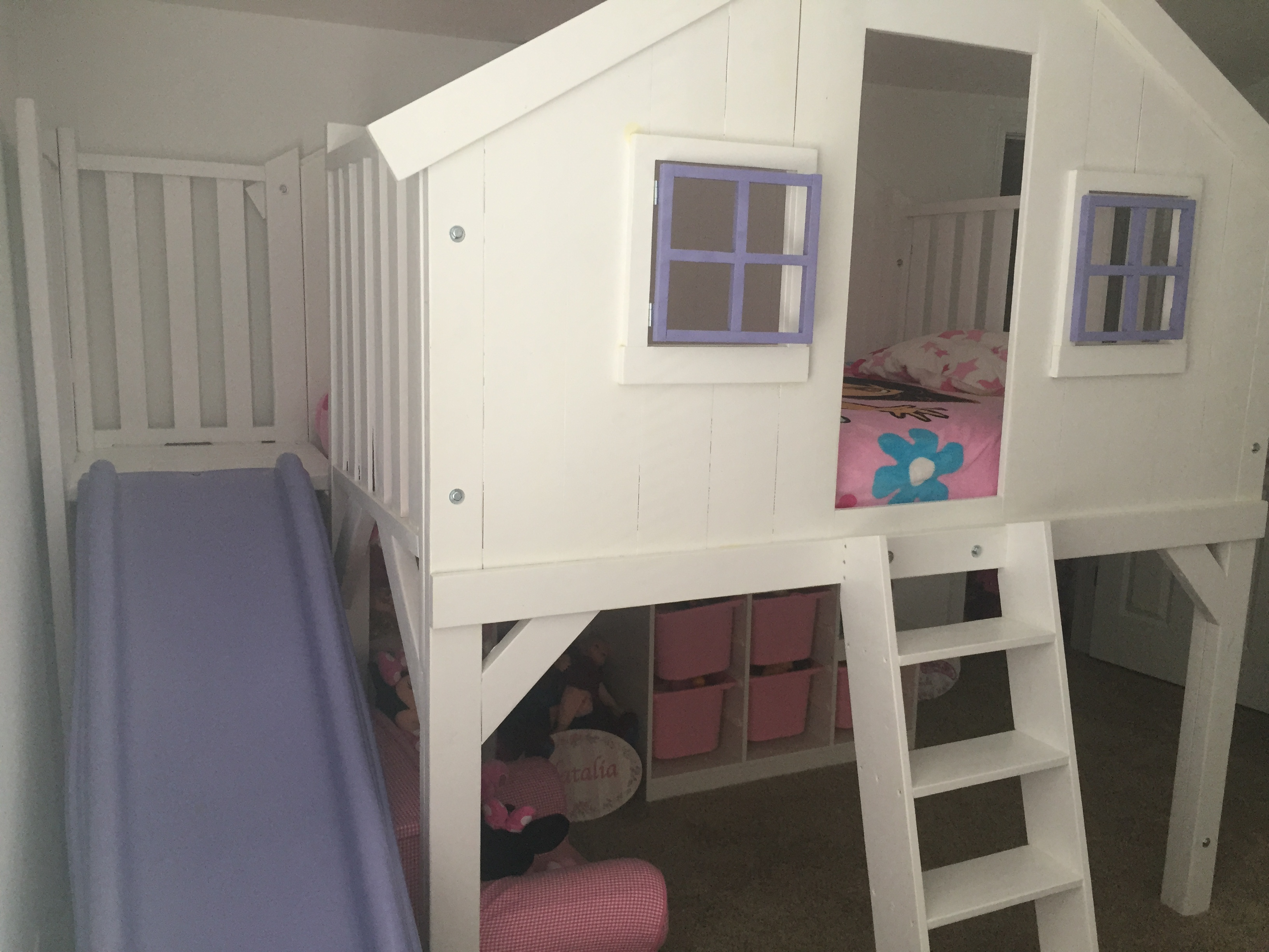 Ana White Clubhouse Bed Full Size With Slide Diy Projects