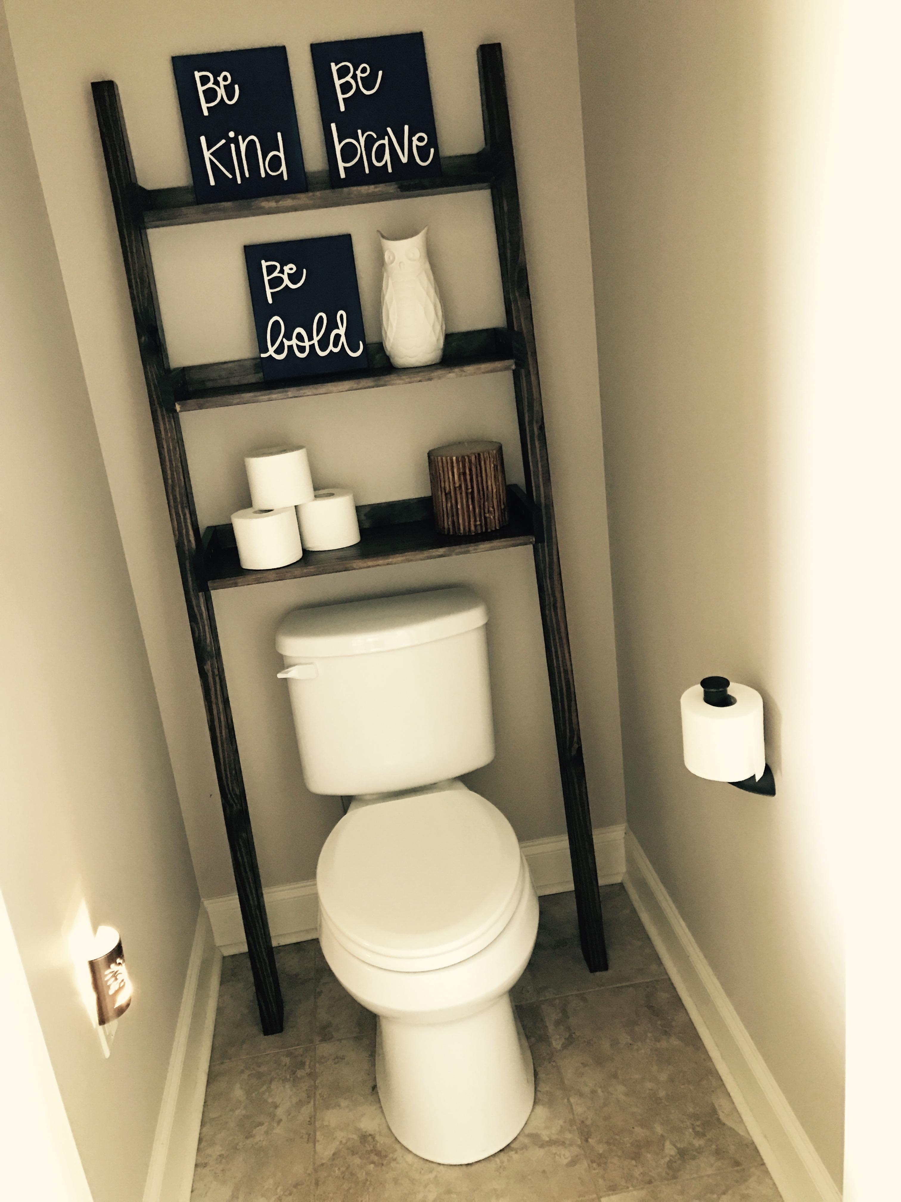 Leaning Bathroom Ladder Ana White