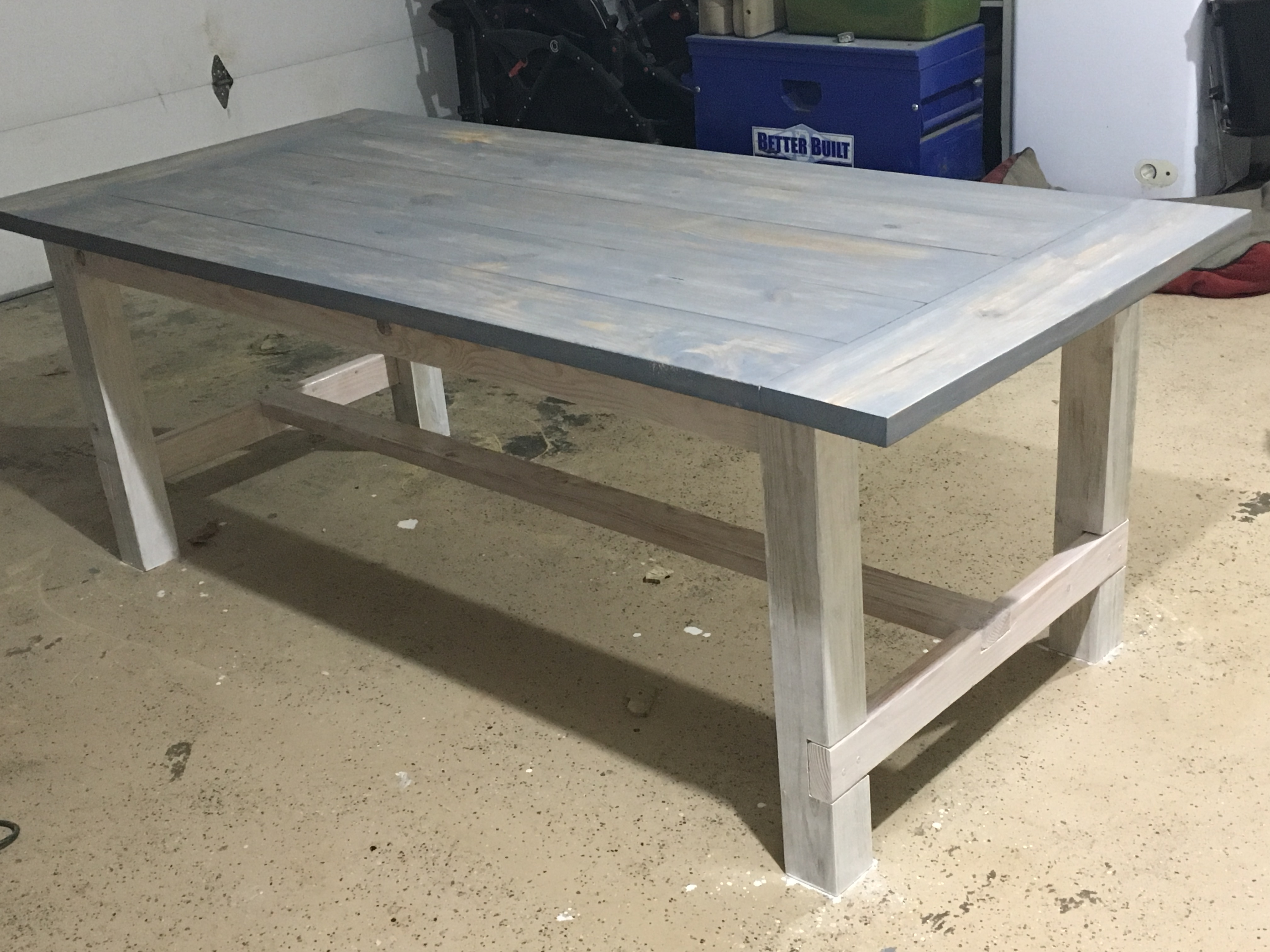 Ana white farmhouse table and benches diy projects for Ana white table bench