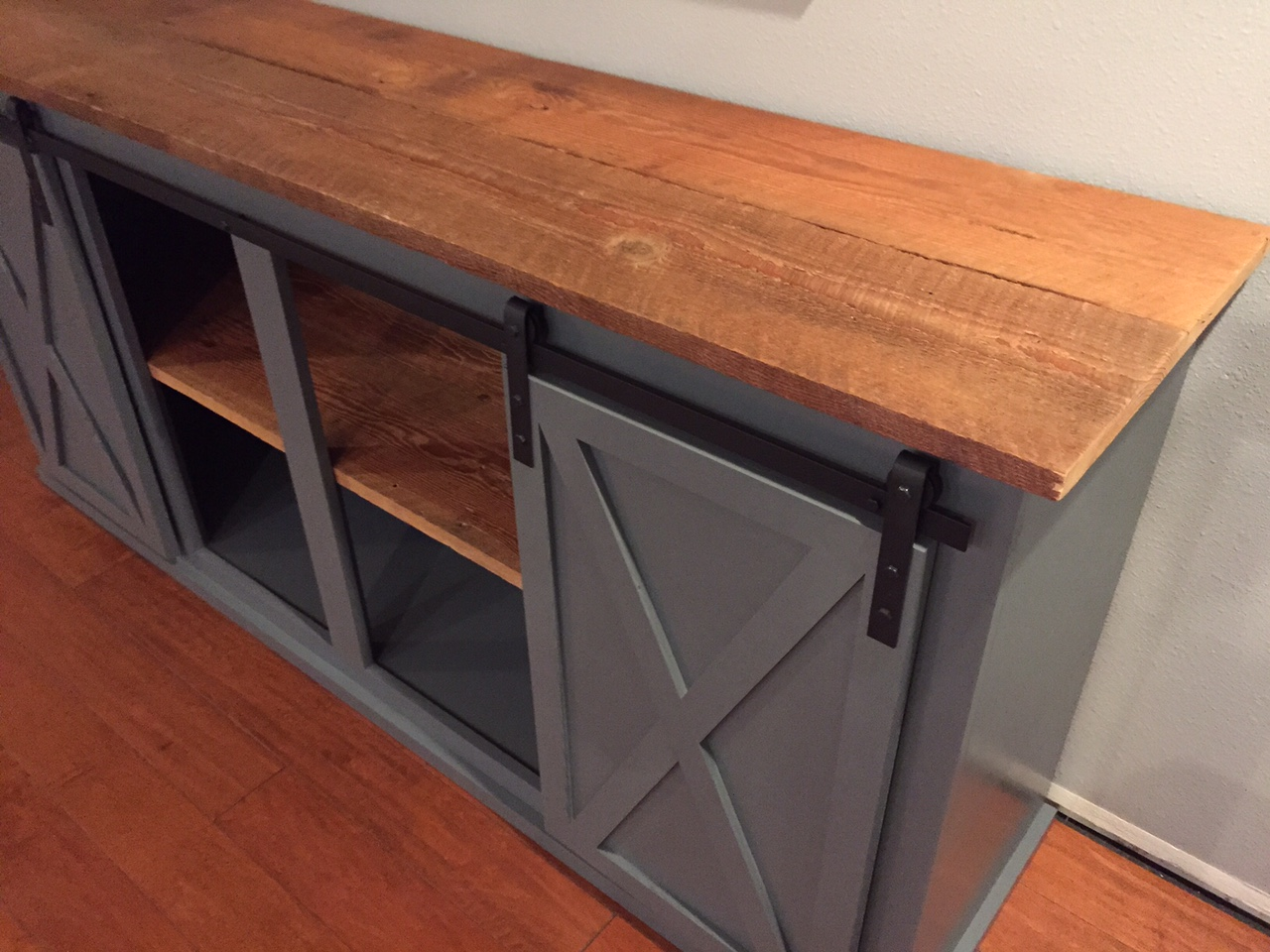 Ana White Sliding Door Buffet With Real Barnwood Diy